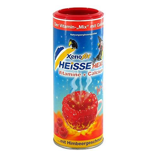 Xenofit Heiße Hexe Vitamine + Calcium Pulver mit Himbeergeschmack, 270 g Pulver