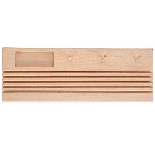 Soporte de regla para acolchar de madera, organizador de almacenamiento para carretes de bricolaje, herramienta de costura para tejer y manualidades, costura DIY