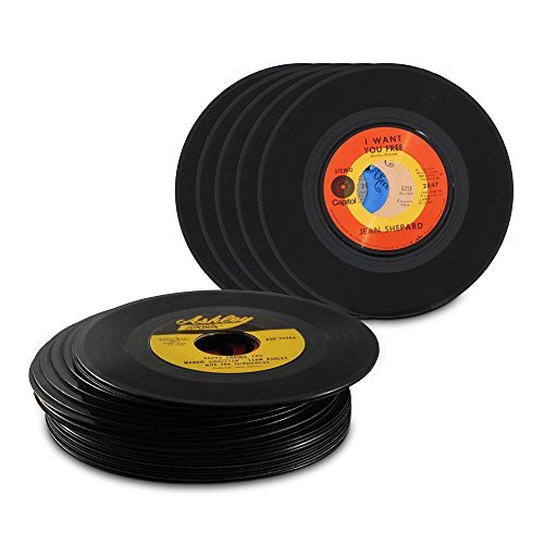 "Genuine Record Decorations By Record Looks| Set Of 25| 45 RPM, 7"" Vinyl Records