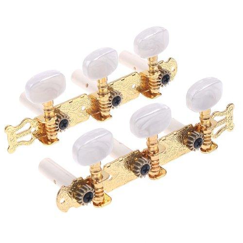 Andoer Gitarre Mechaniken Tuning 2 Stimm-Wirbel für Akustik-Gitarre mechanisch