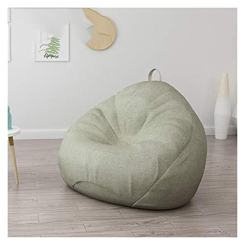 RKRLJX Bean Bag Chair: Giant Memory Furniture Bean Bag - Big Sofa with Soft Micro Fiber Cover (Color : Gray, Size : Large)