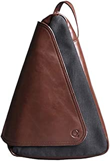 Leather Bag Mens Men's Shoulder Bags Casual Fashion Student Street Personality High Capacity (Color : Brown, Size : S)