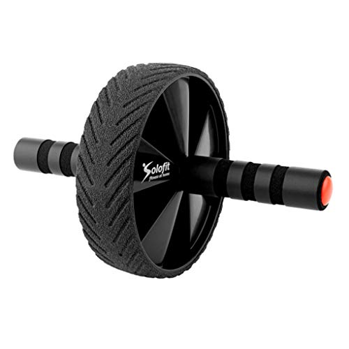 Solofit Ab Roller Wheel for Abs Workout – Fitness Abdominal Exercise Equipment for Core & Abdominal Strength & Training – Multi-Functional Fitness Wheel with Anti-Slip Grips