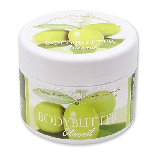 Florex Bodybutter Olivenöl mit biologischer Schafmilch für intensive Feuchtigkeit für trockene und normale Haut 125 ml