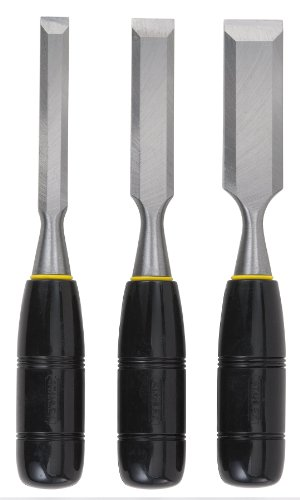 STANLEY Chisel Set, 150 Series, Short Blade, Wood, 3-Piece (16-150)