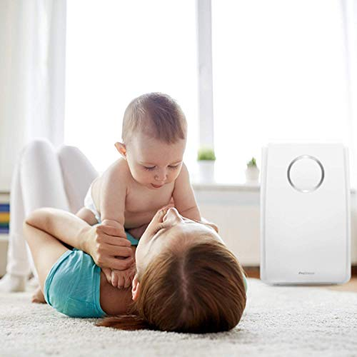 Pro Breeze Air Purifier for Home 5-in-1 with True HEPA Filter, Active Carbon, Negative Ion Generator - Dust, Smokers, Pollen, Pet Hair, Hay Fever, Cooking