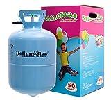 Helium Ballongas HeliumStar Einwegflasche für bis zu 50 Luftballons 25cm Ø o. 27 Folienballons...
