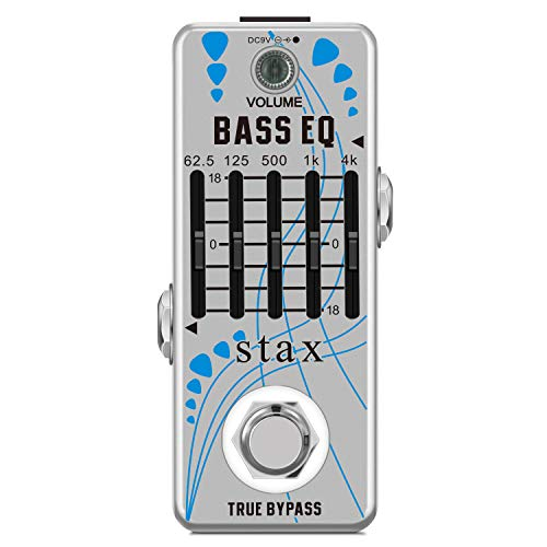Stax Bass EQ Pedal 5 Band Equalizer Pedals For Bass Guitar With 5 Band Graphic Mini Size True Bypass