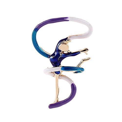 Ludage Exquisito La Cinta de Bailarina, Broche, Aguja Bailando