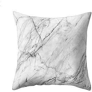 Pillow Case Geometric Marble Texture Throw Cushion Cover Sofa Home Decor (H)