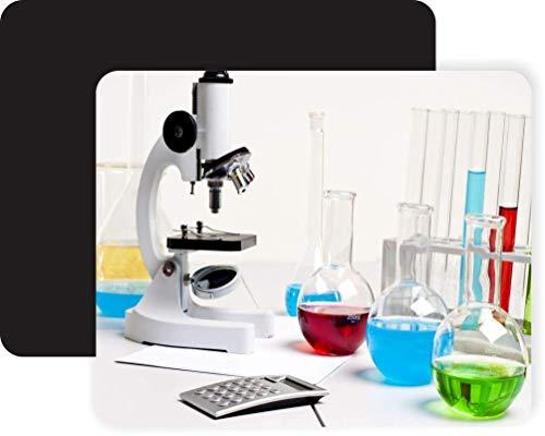 Alfombrilla De Ratón,Mousepad,Mouse Pads,Mouse Pad,Microscopio En Laboratorio Con Tubos De Ensayo De Vidrio Alfombrilla De Ratón De Alfombrillas Multicolores Para Computadora Portátil De Oficina En
