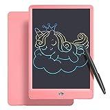 Flovesky LCD Schreibtafel 10 Zoll, Schreibtafel Buntes Display Kinder Laptop für Notieren/Zeichnen, Ultradünn und tragbar, Kinderspielzeug ab 3 Jahre (10 Zoll, Rosa)