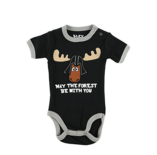 LazyOne Garçon May The Forest Be With You Body Bebe Vest 6 Months