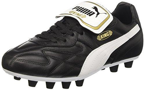 Puma King Top M.i.i FG, Botas de fútbol para Hombre, Negro (Black-White-Team Gold 01), 46 EU