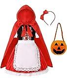 Viyorshop Little Red Riding Hood Costume for Girls Halloween Costume...