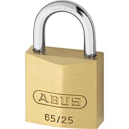 Abus - 65/25 messing hangslot Carded - ABU6525C kaart. 25 mm