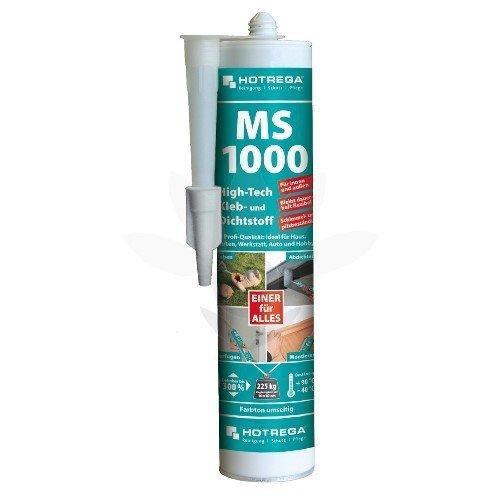 HOTREGA MS 1000 High Tech Kleb- und Dichtstoff Kartusche in Transparent, Metallic und in Farbe, Farbe:grau
