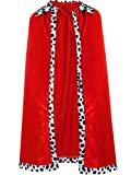 King Robe Queen Robe Cosplay Costume Stage Performances for Halloween Costume Party Accessory Red Robe (Child Size)