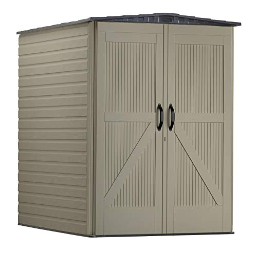 Rubbermaid Roughneck Large Vertical Resin Weather Resistant Outdoor Garden Storage Shed, 5x6 Feet