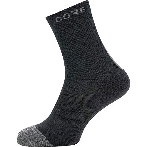 GORE WEAR M Thermo calcetines unisex, Talla: 44-46, Color: negro/gris
