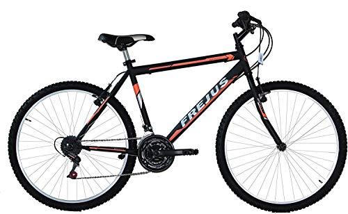 F.LLI MASCIAGHI Bicicletta 26 MTB Uomo 18 Velocita Cambio SAIGUAN Colore Nero Arancio Bici-Ok-VA Bene per Una PERSANA Alta CM 150 A 170 CM