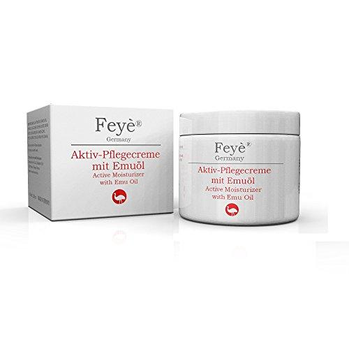 Feyè® Aktiv-Creme mit Emuöl – Bei trockener Haut, Psoriasis, Schuppenflechte, Ekzemen und rissiger Haut, Juckreiz, Rötung und Entzündung – Hautpflege-Salbe –...