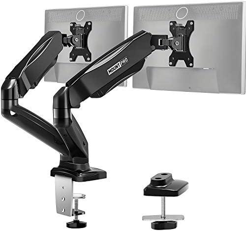 MOUNT PRO Dual Monitor Desk Mount Articulating Gas Spring Monitor Arm Removable VESA Mount Desk product image