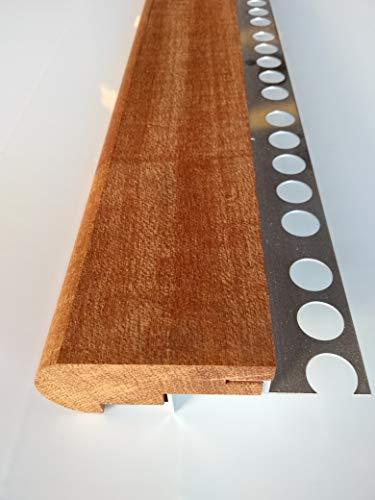 Mamperlán madera maciza Niagón para peldaño y escalera (Esquina Izquierda)