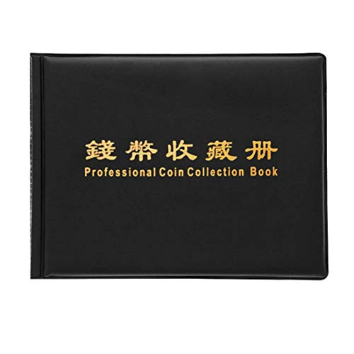 Buytra 180 Coin Holder Coin Collecting Album Book Storage for Coin Collector, 10 Pocket Pages, Black