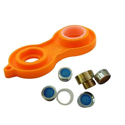 Z-LIANG Kit de reparación de plástico 1PC Grifo Aireador reemplazo de herramientas Llave de grifo aireador de llave inglesa Sanitarios grifo inflador Herramientas