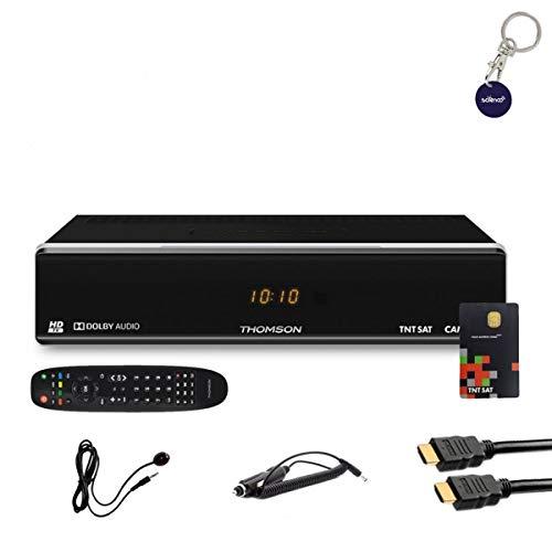 puissant Récepteur TV satellite THOMSON HD + carte TNTSAT V6 + câble HDMI + câble 12V + télécommande IR