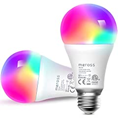 Remote Control: Control the smart light bulb anytime anywhere via meross app, no distance limitation. Need you to download meross app, you can create a group for all of your meross smart bulb and control them all with just one command. Works with any...