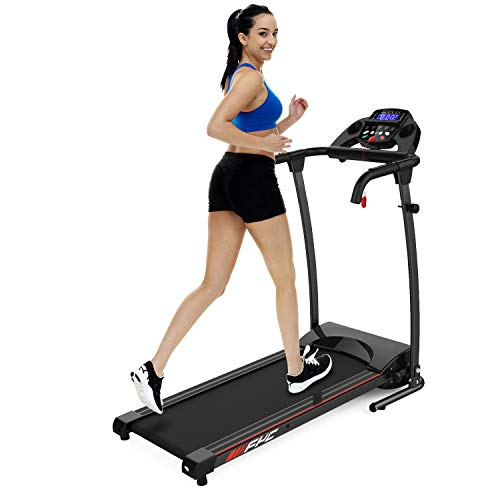 FYC Folding Treadmills for Home Compact Treadmill Electric Motorized Exercise Fitness Running Machine with Mobile Phone & Water Bottle Holder, 12 Preset Programs