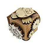 Nrkin Busy Activity Cube, desempaquetar juguete de madera tabla infantil Montessori Juguete educativo y sensorial