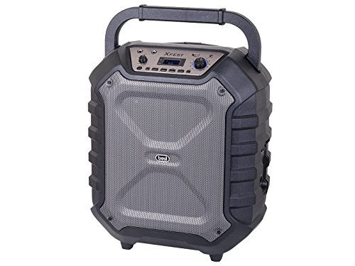 Trevi XFEST XF 950 KB Altoparlante Amplificato Portatile con Trolley, Mp3, USB, Bluetooth e Batteria Integrata, Karaoke Party Speaker con Microfono in
