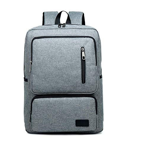SHRAY Backpacks/Sleeves Fashion Large Capacity Casual Notebook Tablet Backpack, Product Size: 44cmx30cmx12cm (Color : Brown) Grey