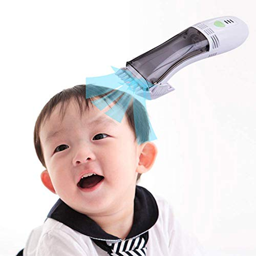 QUARKJK Hair Clipper for Children's Adult,Cordless Vacuum Automatic Hair Suction Hair Clippers Ceramic Knife Head Washable,with 4 Limit Comb,for Barbershop and Family Use