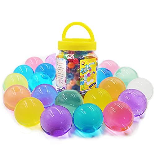 Jangostor Large Water Gel Beads 11 Ounces (300pcs) Gaint Rainbow Mix for Kids Sensory Playing, Wedding Home Decoration,Plants Vase Filler