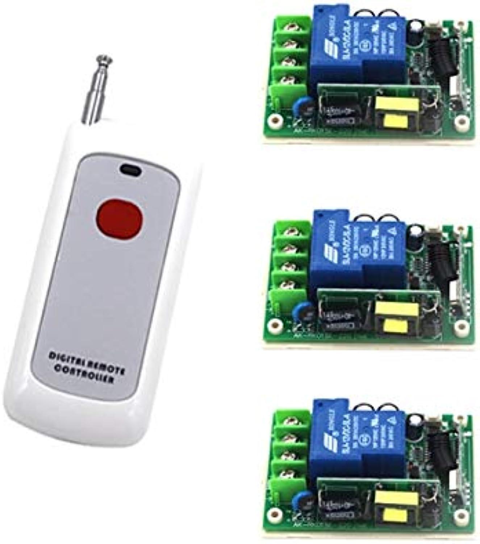 AC 85V250V Motor RF Wireless Remote Control Switch System,315MHZ 110V Remote Control 30A Relay Receivers SKU  5296
