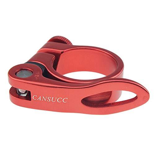 Abrazaderas para sillín de bicicleta, 34,9 mm, de aleación de aluminio, para 34,9 mm (rojo)