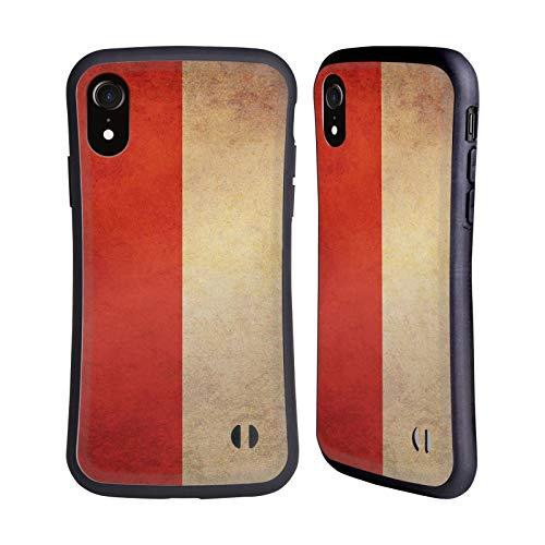 Head Case Designs Indonesia Indonesisch Vintage Fahnen 6 Hybride Handyhülle Hülle Huelle kompatibel mit Apple iPhone XR