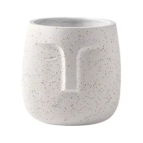 Vobajf Maceta Potes de Maceta de Maceta Maceta para Plantas para Titular de Flores Creativo para el hogar Macetas (Color : White, Size : One Size)