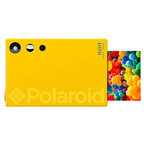 Polaroid Mint Instant Print Digital Camera (Yellow), Prints on Zink 2x3 Sticky-Backed Photo Paper