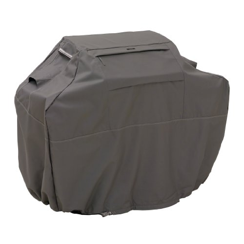 Classic Accessories 55-140-035101-EC Ravenna Water-Resistant 58 Inch BBQ Grill Cover,Taupe,Medium