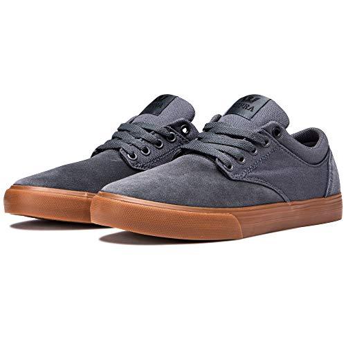 Supra Unisex-Erwachsene Chino Sneaker, Grau (DK Grey-Gum-M 12), 42 EU