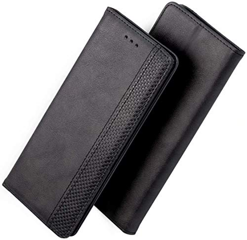 FANFO® Hülle für Asus ROG Phone 3 ZS661KS HandyHülle, Premium PU Leder Tasche Magnetverschlüsse Schutzhülle Flip Wallet Klapphülle Folio Book Style Hülle Cover, Schwarz