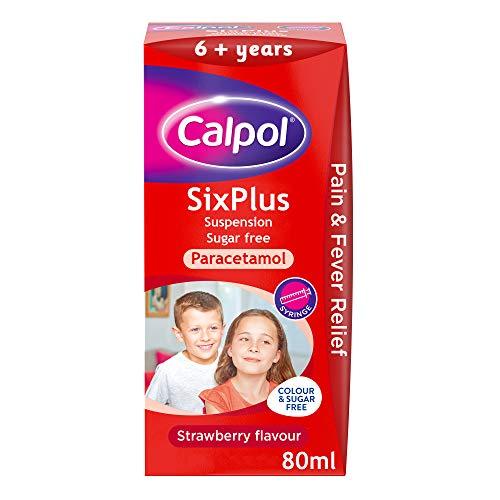 Calpol SixPlus Suspension Sugar Free Strawberry Flavour 6+ Years, 80ml