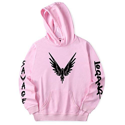 Unisex Street Fashion Hoodie Pop Music Singer Pullover Cool Sweatshirt Pink S