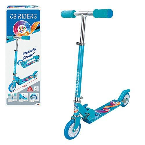 CB Riders - Patinete para niños 3 años patinete plegable aluminio ruedas...