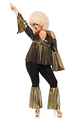 Leg Avenue Women's Plus Size Disco Doll 70s Costume